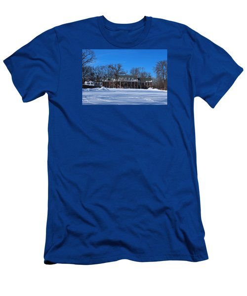 Wildwood Manor House In The Winter Men's T-Shirt (Slim Fit) by Michiale Schneider