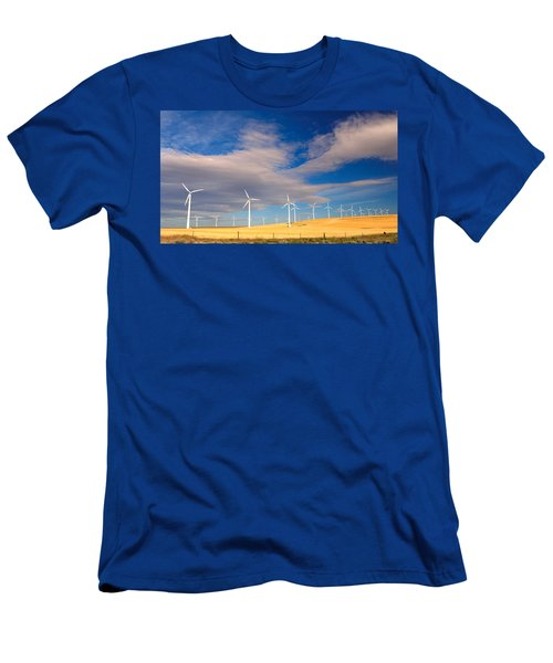 Wind Farm Against The Sky Men's T-Shirt (Athletic Fit)