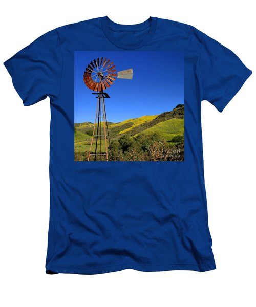 Men's T-Shirt (Slim Fit) featuring the photograph Windmill by Henrik Lehnerer