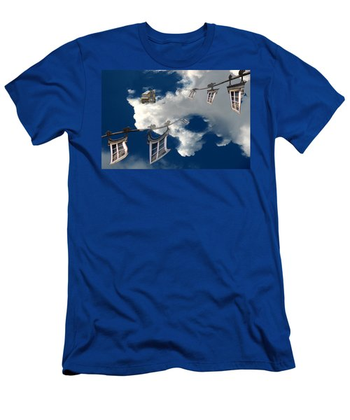 Windows And The Sky Men's T-Shirt (Slim Fit) by Christopher Woods