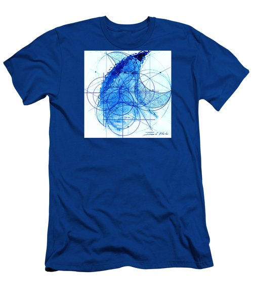Men's T-Shirt (Slim Fit) featuring the painting Windstorm by James Christopher Hill