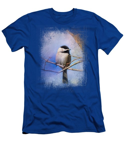 Winter Morning Chickadee Men's T-Shirt (Athletic Fit)