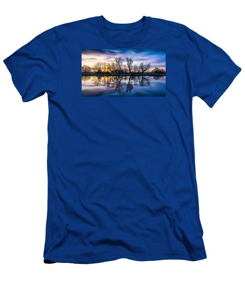 Men's T-Shirt (Athletic Fit) featuring the photograph Winter Sunrise Over The Ouse by James Billings