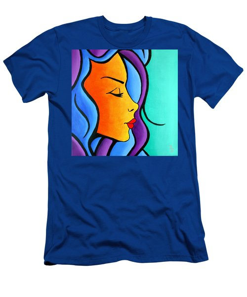 Woman Of Color, Eyes Closed Men's T-Shirt (Athletic Fit)
