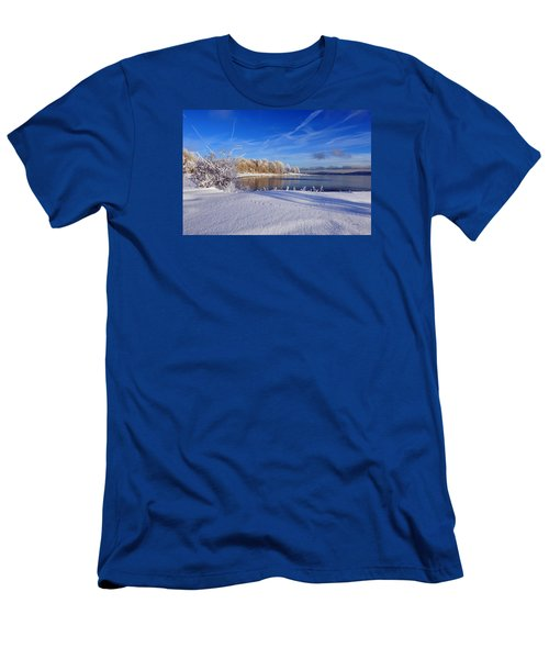 Wondrous Winter Men's T-Shirt (Slim Fit) by Randi Grace Nilsberg