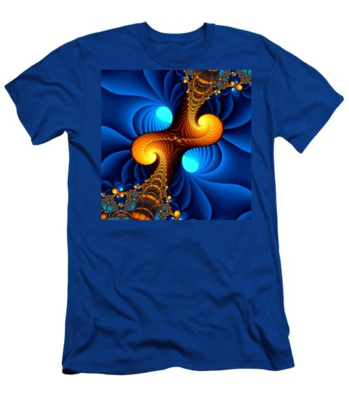 Men's T-Shirt (Slim Fit) featuring the digital art Wormhole by Svetlana Nikolova