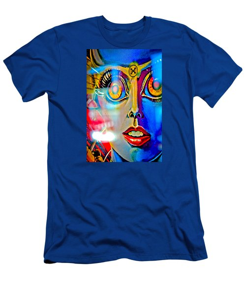 X Is For Xenon - Pinball Men's T-Shirt (Slim Fit) by Colleen Kammerer