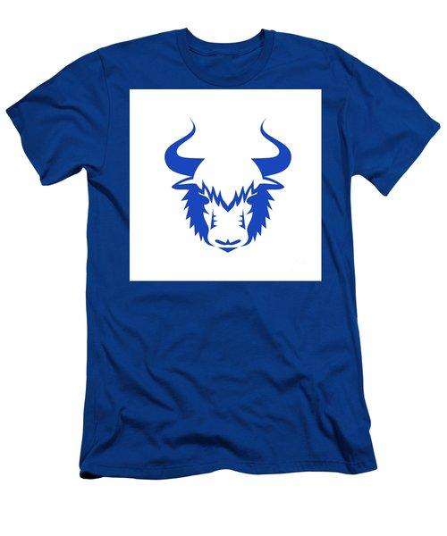 Yak Head Front Retro Men's T-Shirt (Athletic Fit)
