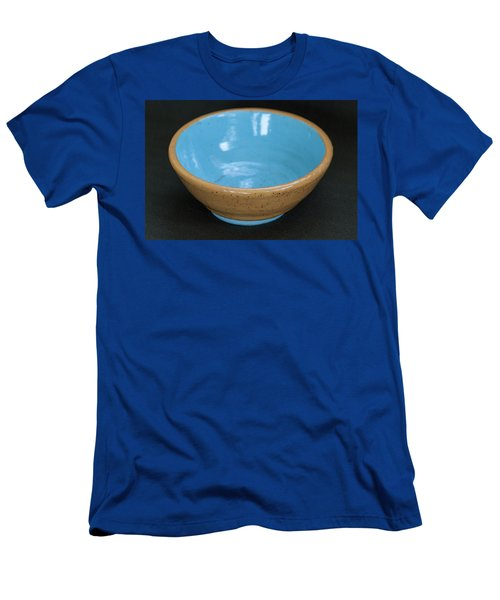 Yellow And Blue Ceramic Bowl Men's T-Shirt (Slim Fit) by Suzanne Gaff