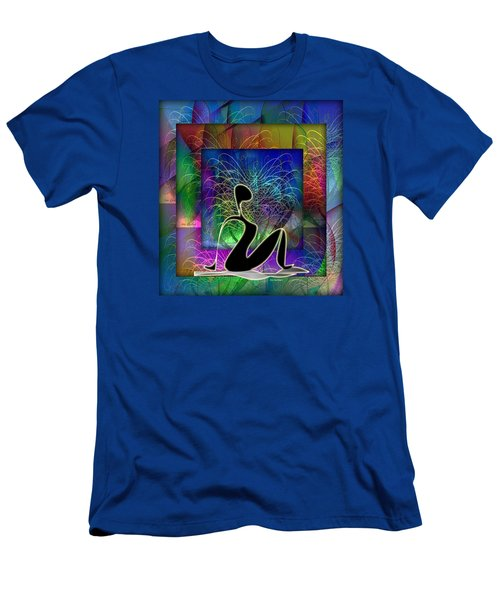 Yoga 6 Men's T-Shirt (Slim Fit) by Iris Gelbart