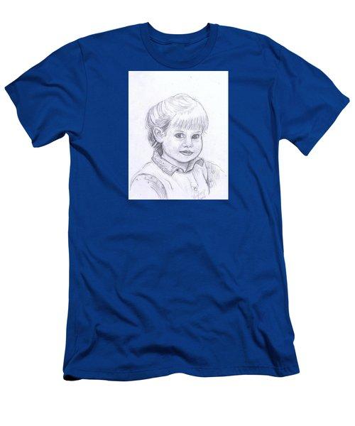 Young Girl Men's T-Shirt (Slim Fit)
