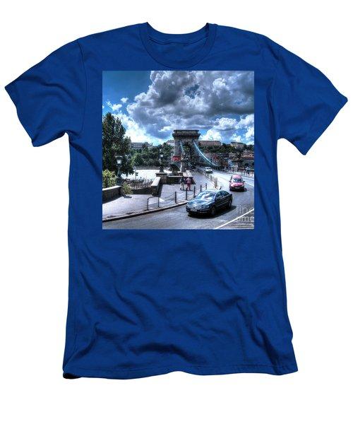 Yury Bashkin Budapesht Summer Men's T-Shirt (Slim Fit) by Yury Bashkin