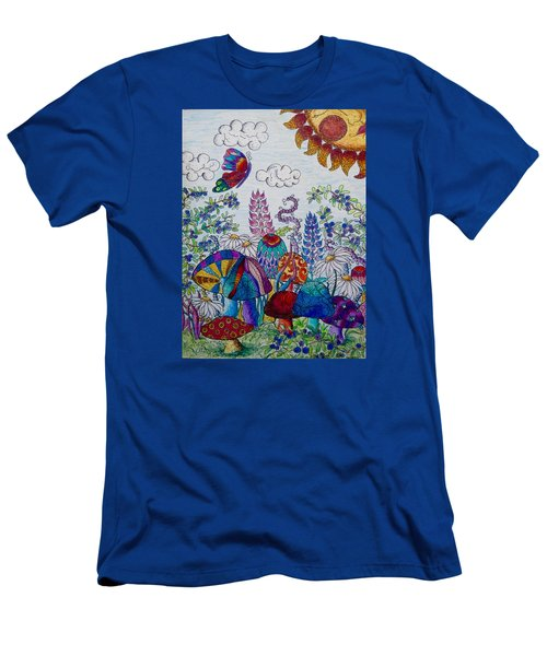 Zentangle Garden Men's T-Shirt (Athletic Fit)