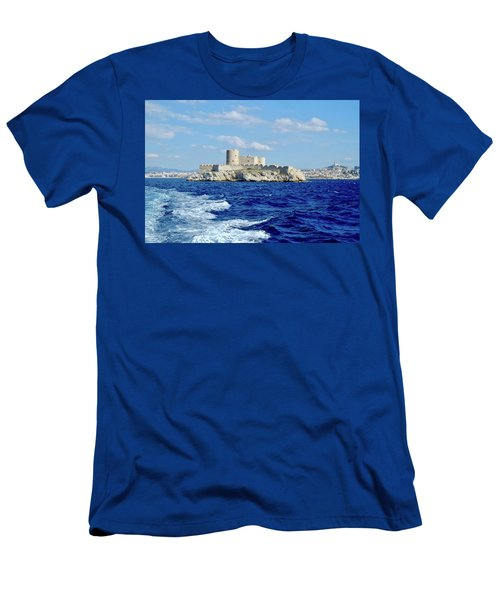 Men's T-Shirt (Athletic Fit) featuring the photograph Chateau Of If Island by August Timmermans