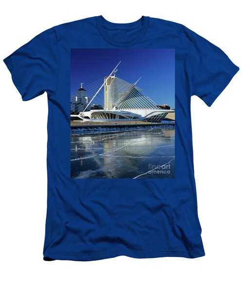 Milwaukee Art Museum By The Frozen Lake Michigan Men's T-Shirt (Athletic Fit)