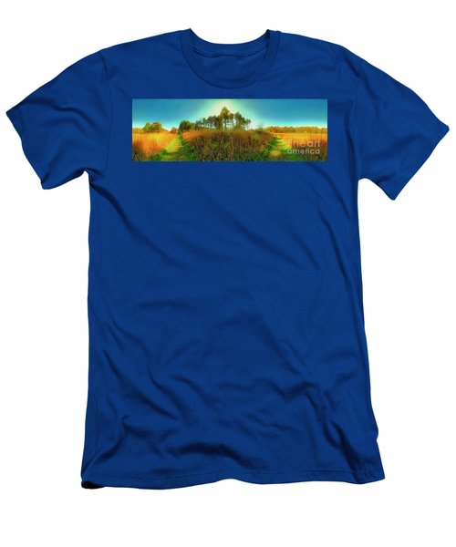 Men's T-Shirt (Athletic Fit) featuring the photograph Which Way To Go  by Tom Jelen