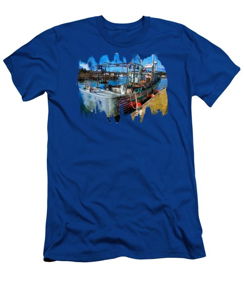 A Real Fishing Boat Men's T-Shirt (Athletic Fit)