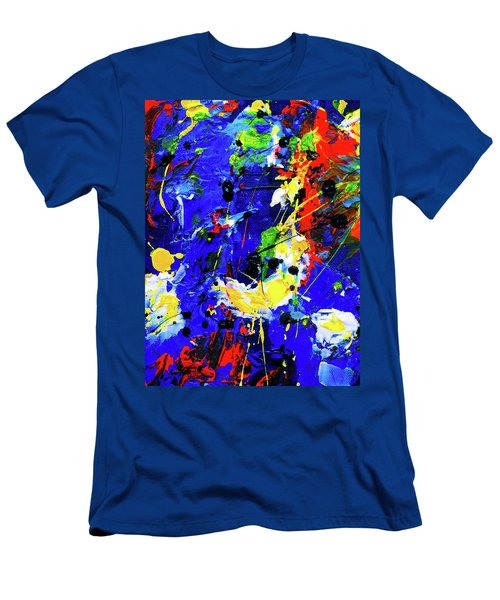 Men's T-Shirt (Athletic Fit) featuring the painting Ab19-16 by Arttantra