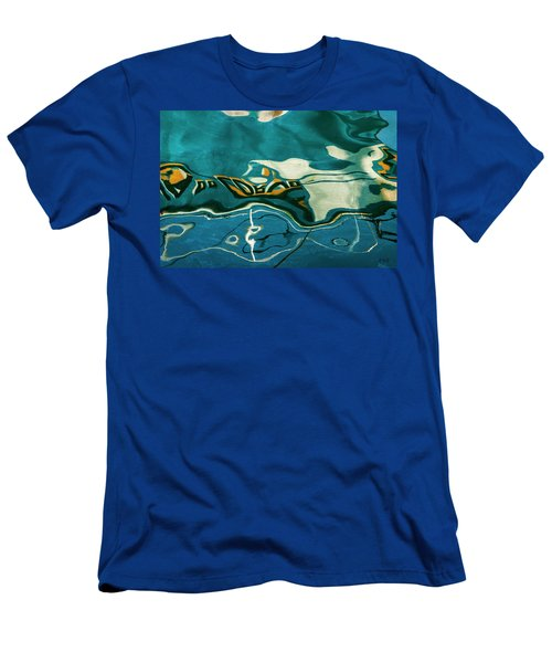 Men's T-Shirt (Athletic Fit) featuring the photograph Abstract Boat Reflection V Color by David Gordon