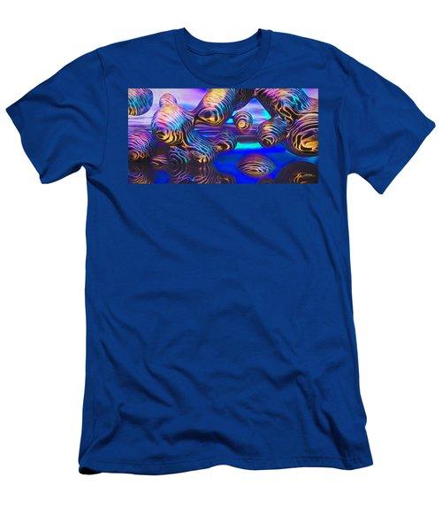 Alien Biometal Blue Men's T-Shirt (Athletic Fit)