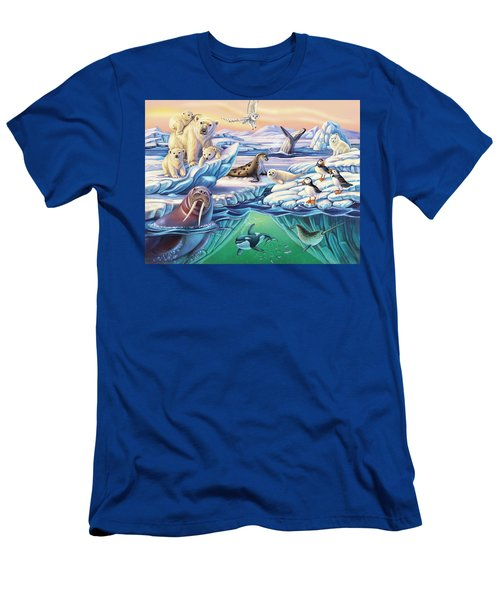 Arctic Animals Men's T-Shirt (Athletic Fit)