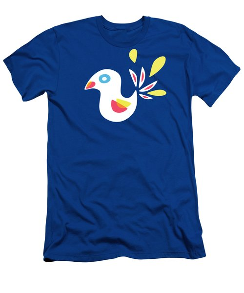 Abstract Bird In Spring Men's T-Shirt (Athletic Fit)