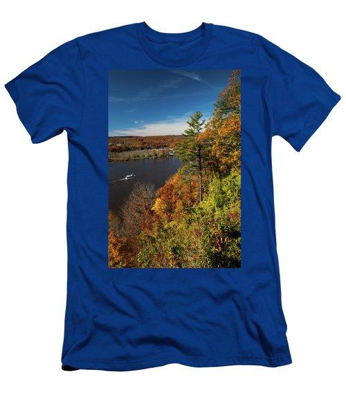 Autumn On The Connecticut River Men's T-Shirt (Athletic Fit)