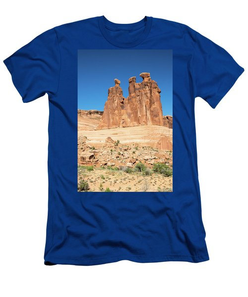 Balanced Rocks In Arches Men's T-Shirt (Athletic Fit)