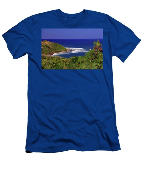 Men's T-Shirt (Athletic Fit) featuring the photograph Bay In St Kitts by Tony Murtagh