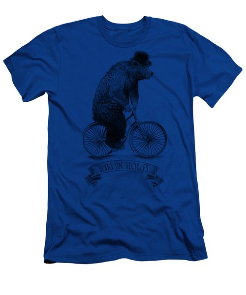Bears On Bicycles - Lime Men's T-Shirt (Athletic Fit)