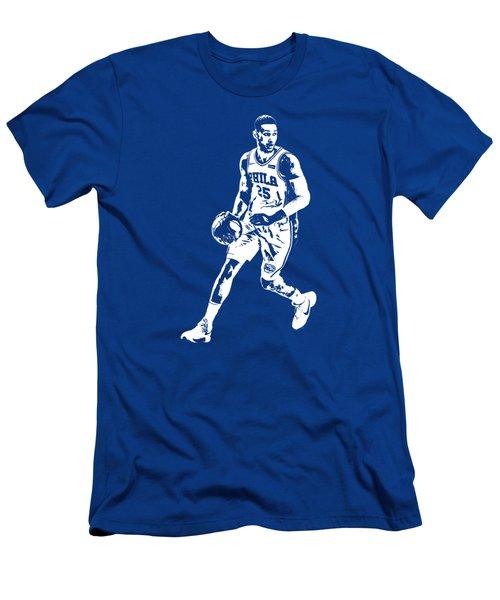 Ben Simmons Philadelphia 76ers T Shirt Apparel Pixel Art 1 Men's T-Shirt (Athletic Fit)