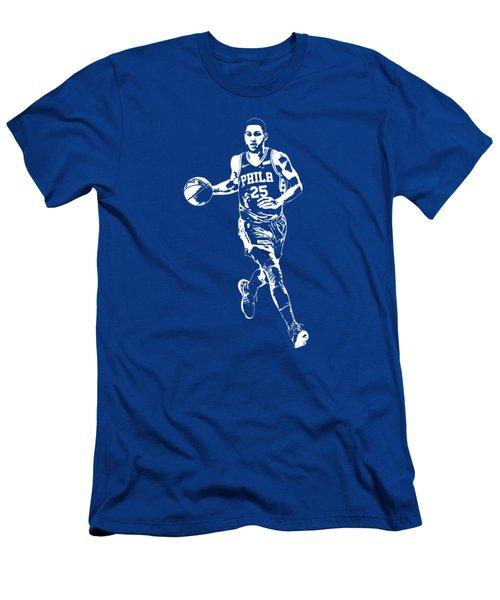 Ben Simmons Philadelphia 76ers T Shirt Apparel Pixel Art 3 Men's T-Shirt (Athletic Fit)