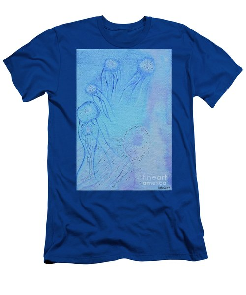 Men's T-Shirt (Athletic Fit) featuring the painting Blooming Behind The Scenes by Kim Nelson