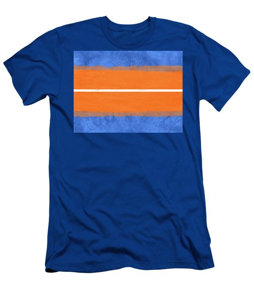 Blue And Orange Abstract Theme Iv Men's T-Shirt (Athletic Fit)