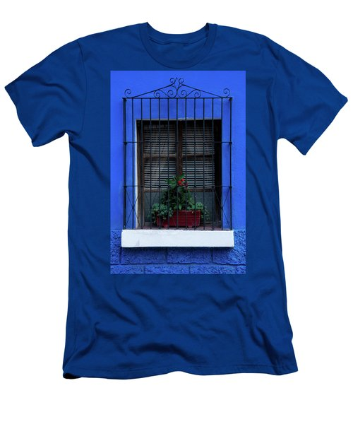 Men's T-Shirt (Athletic Fit) featuring the photograph Blue-ming Beauty by Melissa Lane