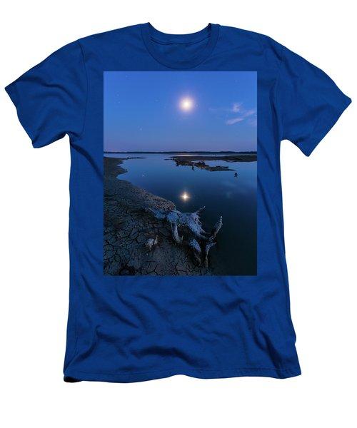 Blue Moonlight Men's T-Shirt (Athletic Fit)