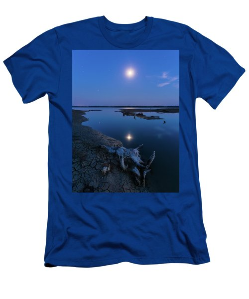 Men's T-Shirt (Athletic Fit) featuring the photograph Blue Moonlight by Davor Zerjav