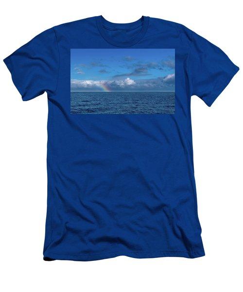 Blue Rainbow Horizon Men's T-Shirt (Athletic Fit)
