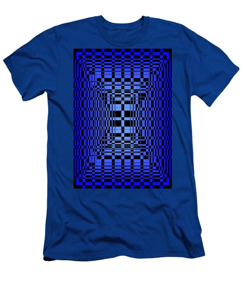 Brave Blue  Men's T-Shirt (Athletic Fit)