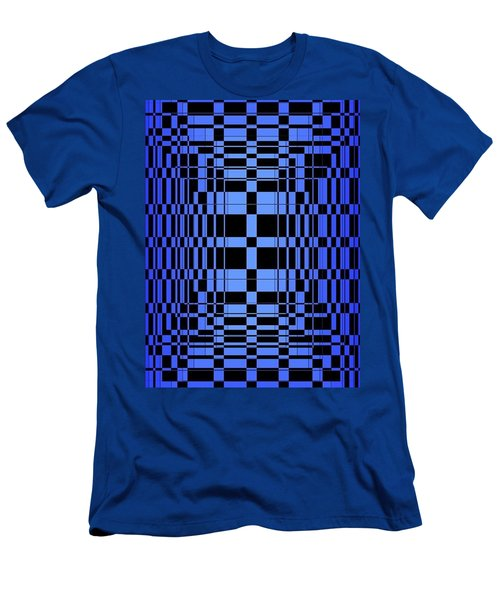 Men's T-Shirt (Athletic Fit) featuring the painting Brave Blue  by Arttantra