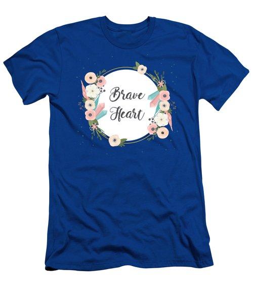 Brave Heart - Boho Chic Ethnic Nursery Art Poster Print Men's T-Shirt (Athletic Fit)
