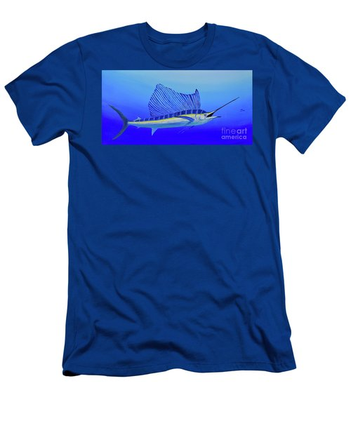 Men's T-Shirt (Athletic Fit) featuring the painting Catch Me If You Can by Mary Scott