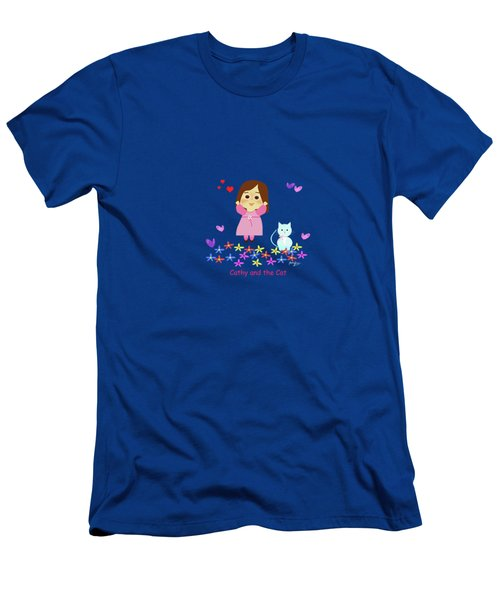 Cathy And The Cat Spring Is Coming Men's T-Shirt (Athletic Fit)