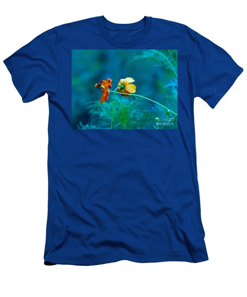 Men's T-Shirt (Athletic Fit) featuring the photograph Chance Meeting by Rosanne Licciardi