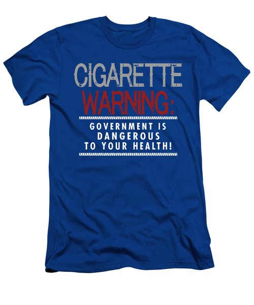 Cigarette Warning Men's T-Shirt (Athletic Fit)