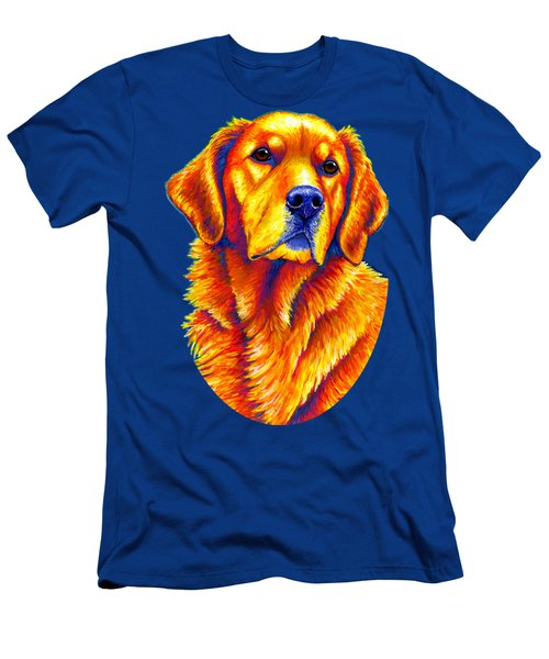 Colorful Golden Retriever Dog Men's T-Shirt (Athletic Fit)