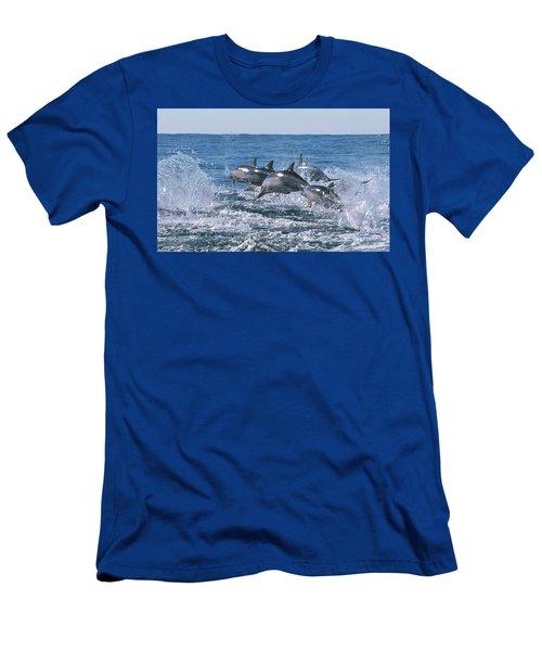 Dancing Dolphins Men's T-Shirt (Athletic Fit)