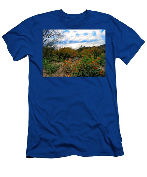 Desert Wildflowers In The Valley Men's T-Shirt (Athletic Fit)