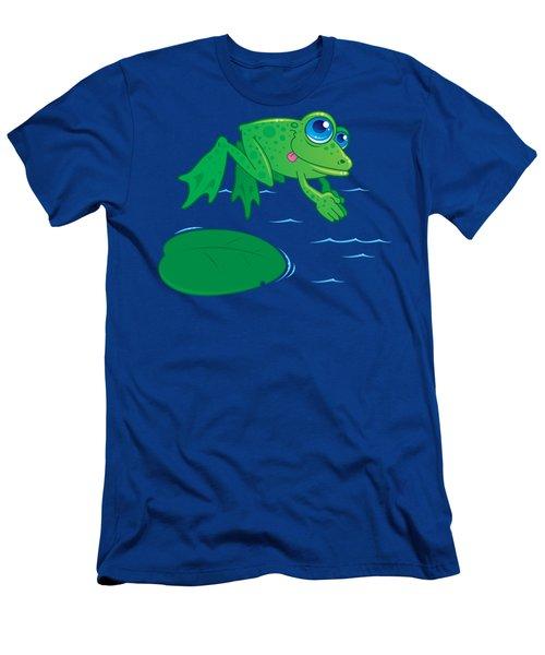 Diving Frog Men's T-Shirt (Athletic Fit)