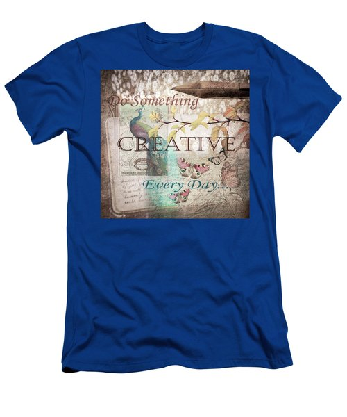 Do Something Creative Every Day Vintage Art Men's T-Shirt (Athletic Fit)